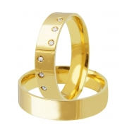 Aliança de Casamento Quadrada em Ouro 18k Honeymoon (5mm)
