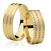 Aliança de Casamento Romance em Ouro 18k Anatômica (6.6mm)
