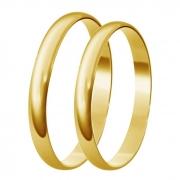 Aliança de Casamento Santiny Classic de Ouro Amarelo (2mm)