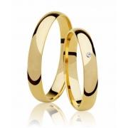 Aliança de Casamento Santiny Classic Ouro 18k e Diamante (3.45mm)