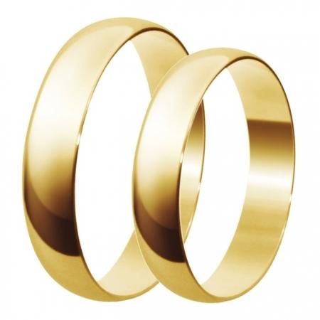 Aliança de Casamento Santiny de Ouro 18k - Unitária (4mm)