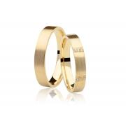 Aliança de Casamento Serenity em Ouro 18k (3,6mm)