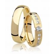 Aliança de Casamento Tension Anatômica em Ouro 18k (3.5mm)