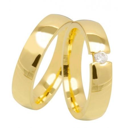 Aliança de Casamento Tension Ouro 18k  Anatômica - Unitária (3.5mm)