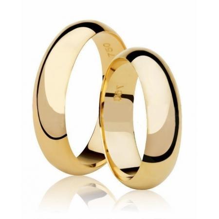 Aliança de Casamento Tradicional  Anatômica em Ouro 18k - Unitária (5.50mm)