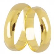 Aliança de Casamento Tradicional em Ouro Amarelo 18k - Unitária (4.8mm)