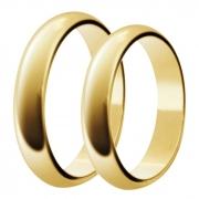 Aliança de Casamento Tradicional Santiny em Ouro 18k (4mm)