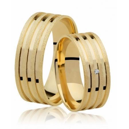 Aliança de Casamento True em Ouro 18k e Diamante  - Unitária (7mm)