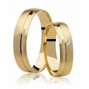 Aliança de Prata 950 Banhada a Ouro 24k Noivado ou Casamento AB7031