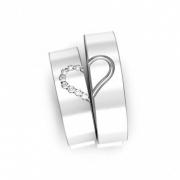 Aliança Namoro Heart de Prata 950 AP6017