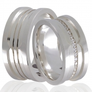 Aliança Namoro Love Stone de Prata 950 - AP6042