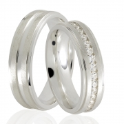 Aliança  Stones de Prata 950 - AP6043