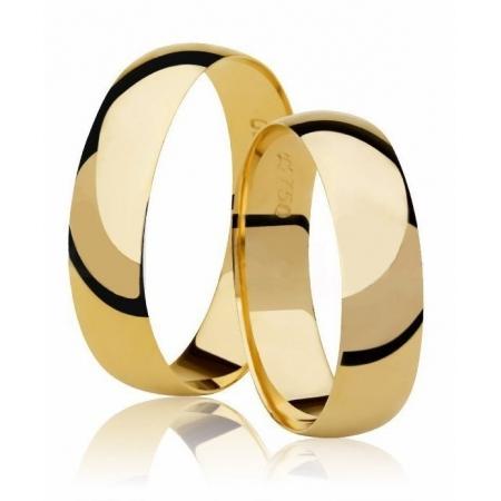 Aliança Tradicional de Casamento em Ouro 18k - Unitária (3.90mm)