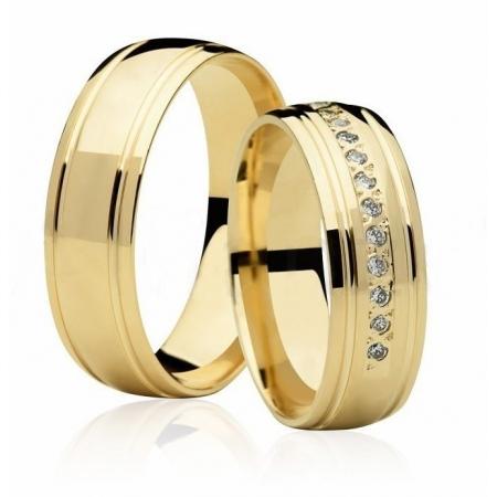 Alianças de Casamento Divine Ouro Amarelo 18k - Unitária (6mm)