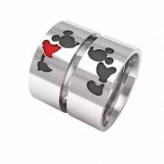 Alianças Mickey Mouse x Minnie Namoro de Prata 950 AP6005