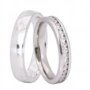 Alianças Namoro de Prata 950 AP6046