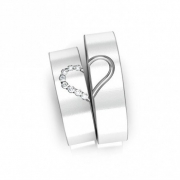 Alianças Namoro Heart de Prata 950 AP6017