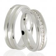 Alianças  Stones de Prata 950 - AP6043