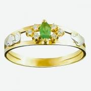 Anel de Formatura Ouro 18k Pedra Navette  AF522