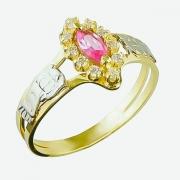 Anel de Formatura Ouro 18k Pedra Navette  AF530