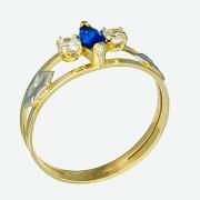 Anel de Formatura Ouro 18k Pedra Navette  AF636