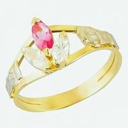 Anel de Formatura Ouro 18k Pedra Navette - AF637