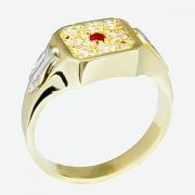 Anel de Ouro amarelo 18k Formatura AF492