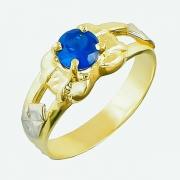 Anel de Ouro Amarelo 18k Formatura Pedra Oval AF541