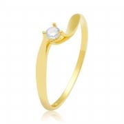 Solitário Disney Ouro Amarelo 18k e 11 Pontos de Diamantes
