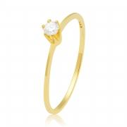 Solitário Flat II Ouro Amarelo 18k  e 11 Pontos de Diamantes