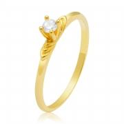 Solitário Ouro Amarelo 18k Halo e Pedra de Diamante
