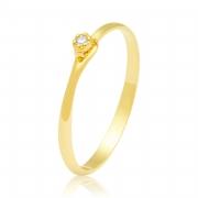 Solitário Ouro Amarelo 18k Sard e Diamante