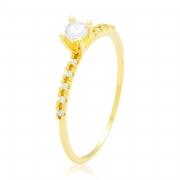 Solitário Stacky Ouro Amarelo 18k e Diamantes