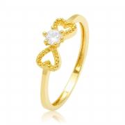 Solitário Tie Ouro Amarelo 18k e 11 Pontos de Diamantes