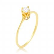 Solitário Ouro Amarelo 18k Invisible e 25,4 Pontos de Diamantes