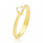 Solitário Ouro Amarelo 18k Bezel e 30 Pontos de Diamantes