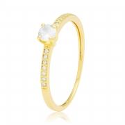 Solitário Ouro Amarelo 18k Channel e 35,6 Pontos de Diamantes