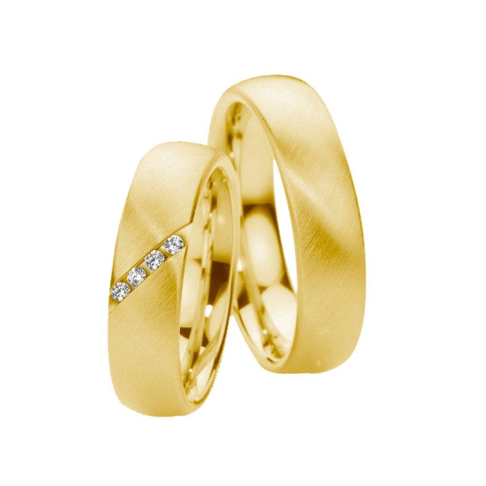 Aliança c/ Pedras Transversal de Prata 950 Banhada a Ouro AB7005