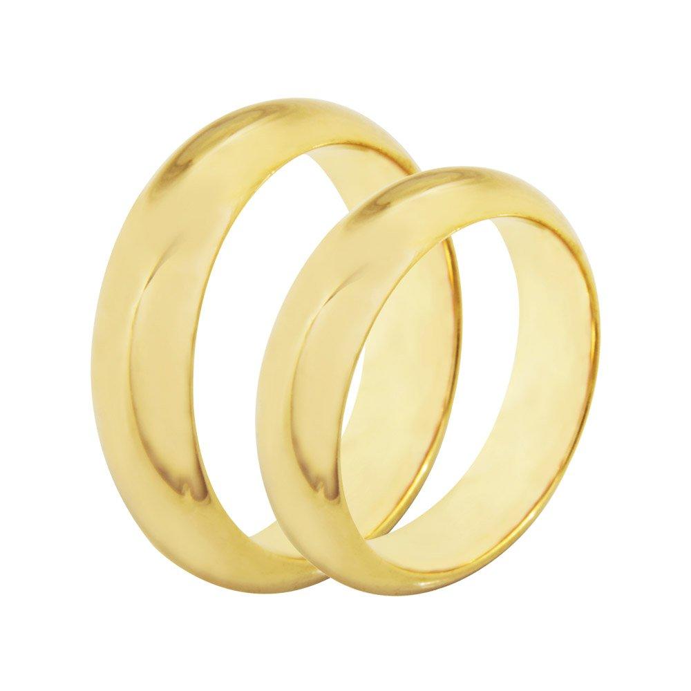 Aliança Casamento Anatômica de Ouro 18k - Unitária (5.9mm)
