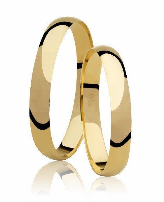 Aliança Casamento Classic de Ouro Amarelo Tradicional - Unitária (2.60mm)