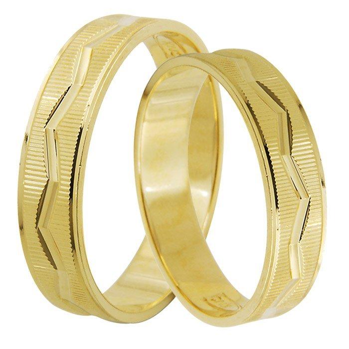 Aliança Casamento TWU WIRES de Ouro Amarelo 18k - Unitária (4mm)