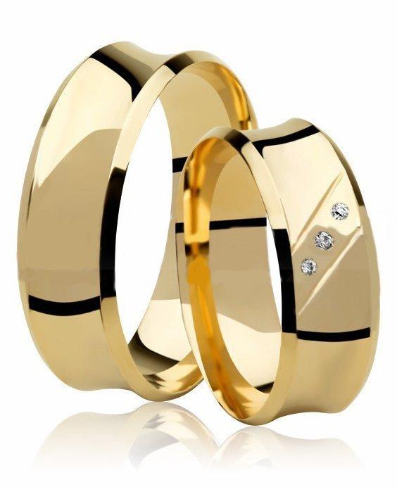 Aliança Côncava de Casamento Anatômica em Ouro 18k  (6.6mm)