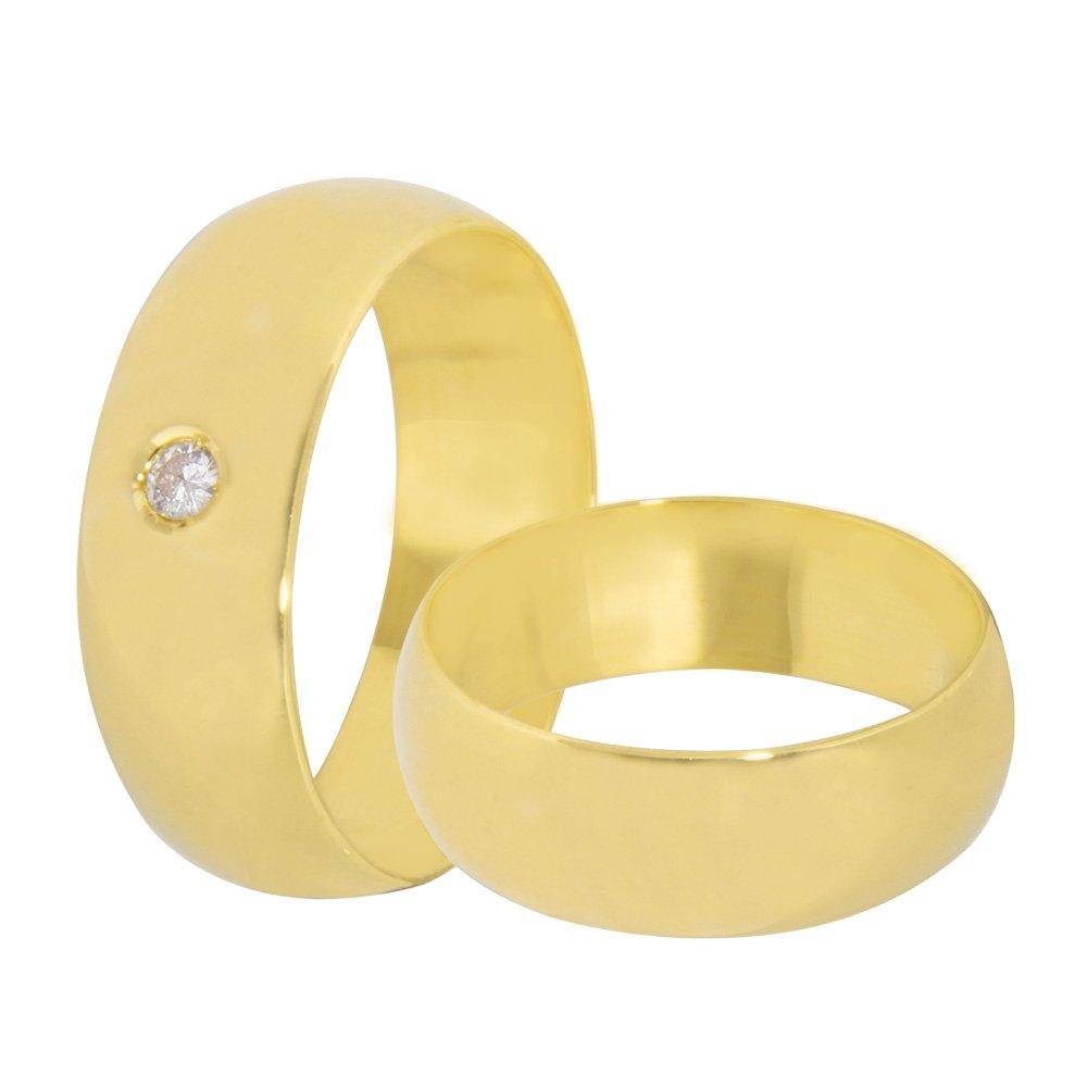 Aliança de Casamento Anatômica em Ouro 18k  (7mm)