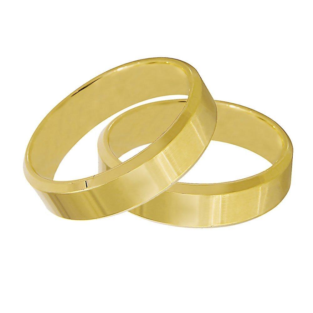 Aliança de Casamento Anatômica em Ouro 18k Candle (5mm)