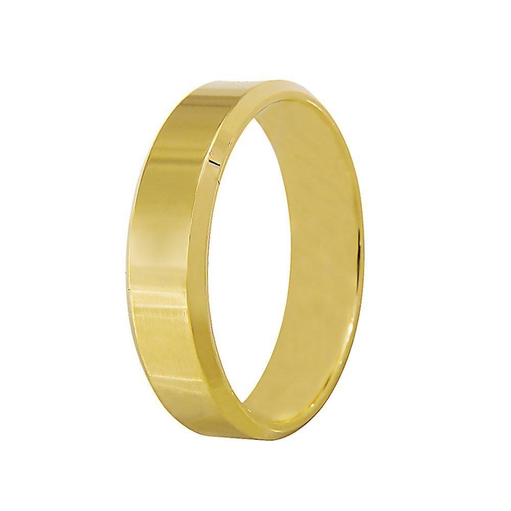 Aliança de Casamento Candle Anatômica em Ouro Amarelo 18k (4.90mm)