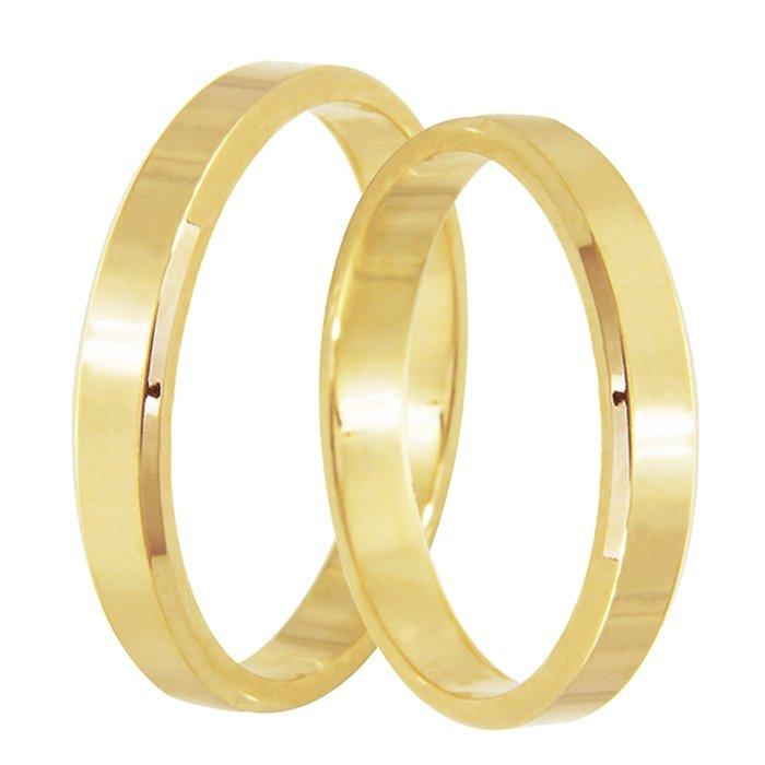 Aliança de Casamento Candle em Ouro Amarelo 18k (2.80mm)