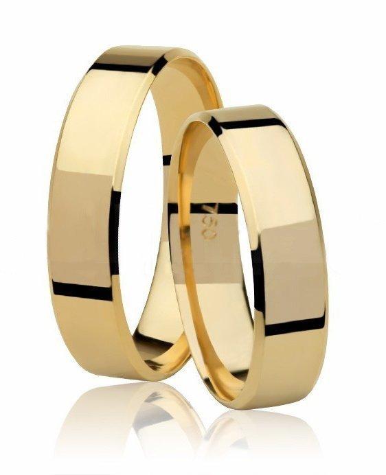 Aliança de Casamento Candle em Ouro Amarelo 18k (5mm)