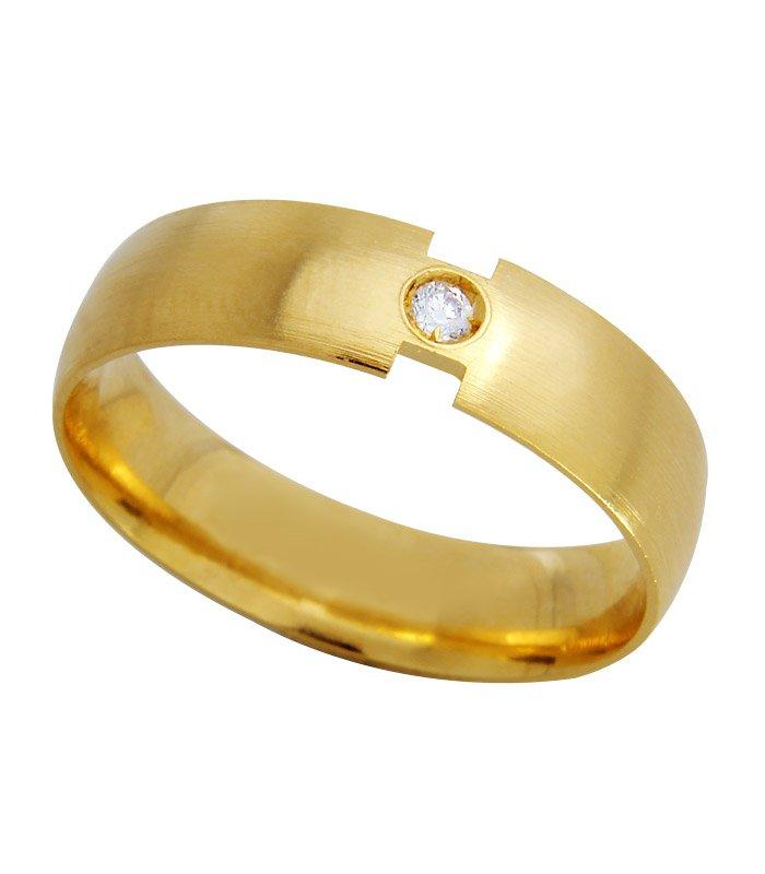 Aliança de Casamento Closer em Ouro e Diamante (5mm)