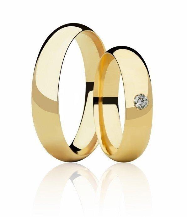 Aliança de Casamento em Ouro 18k Abaulada  - Unitária (5mm)