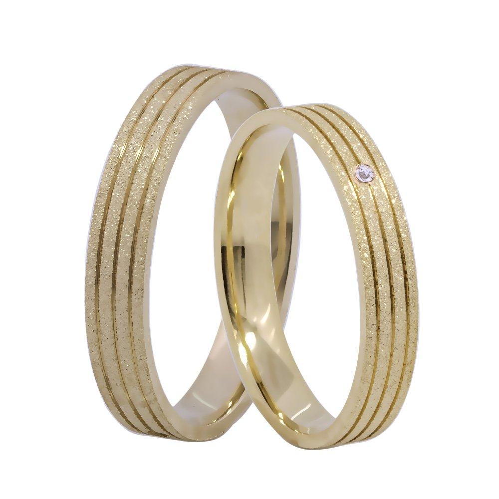 Aliança de Casamento em Ouro 18k Diamantada - Unitária (3.4mm)